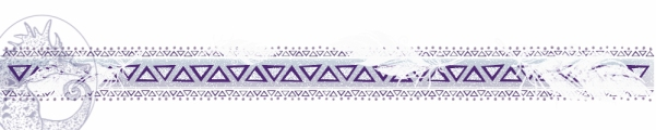 Purple Tribal Border with feathers