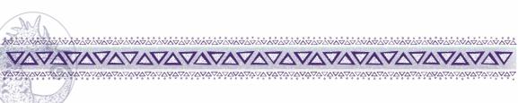 Purple Tribal Border