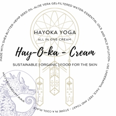Amy Kokoskas Cream Label Design ( I only converted to a circle ) www.hayokayoga.com