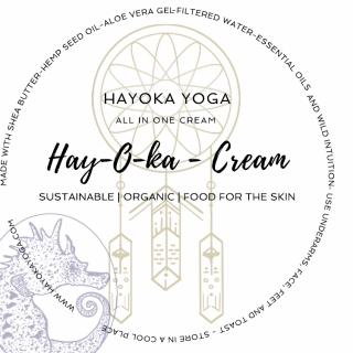 Amy Kokoskas Cream Label Design ( I only converted to a circle ) www.hayokayoga.com