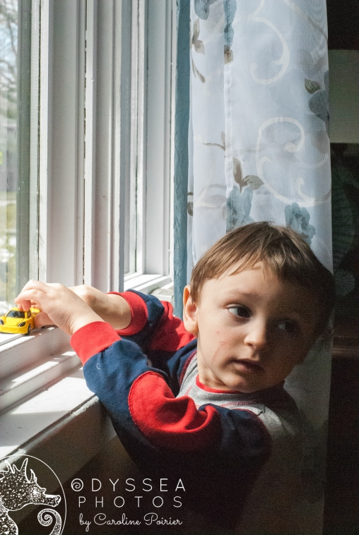 My Son playing in the window